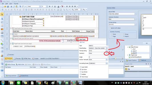 Desain laporan di IPOS 5