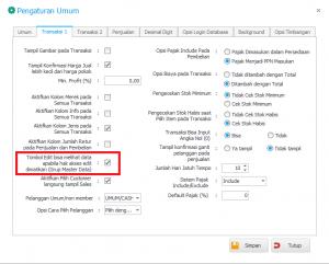 Cara Memblock Detail Item Data untuk User Kasir
