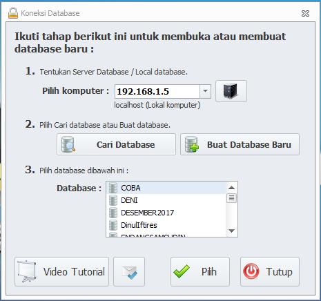 Cara Mengkoneksikan Database Server Ke Client