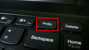 Tombol PrtSc pada Laptop