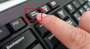Tombol Print Screen pada Keyboard