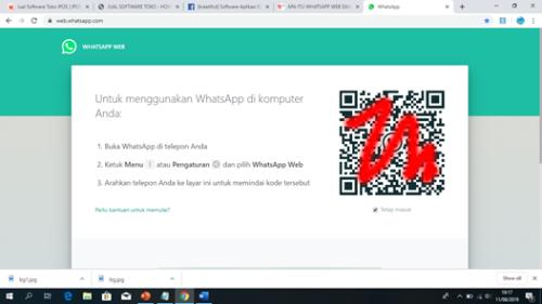 Cara mengkoneksikan WA di Smartphone dengan browser PC