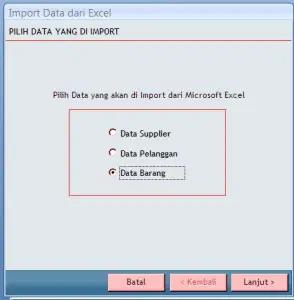 Import Data Excel ke Software Bengkel 2.0